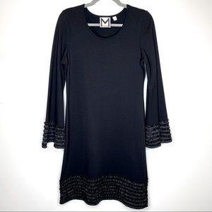 Marc Bouwer Black Ruffle Dress Size Small